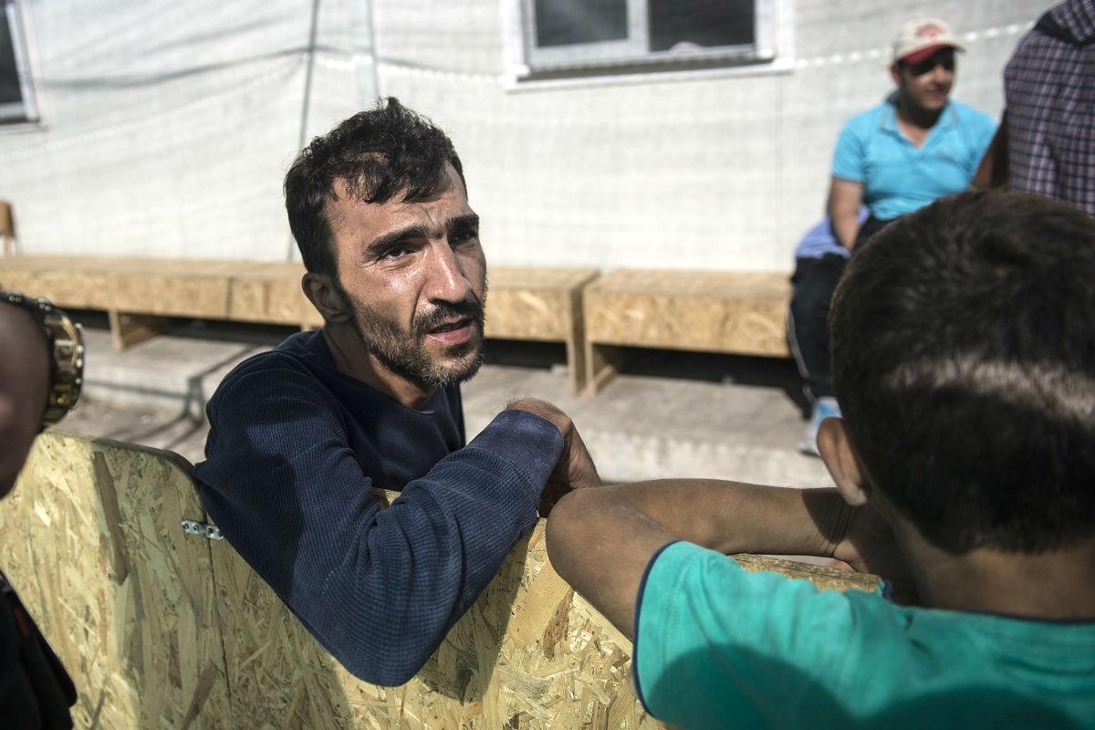 Un refugiado sirio a su llegada hace días a la isla griega de Lesbos.  (Foto: Getty)