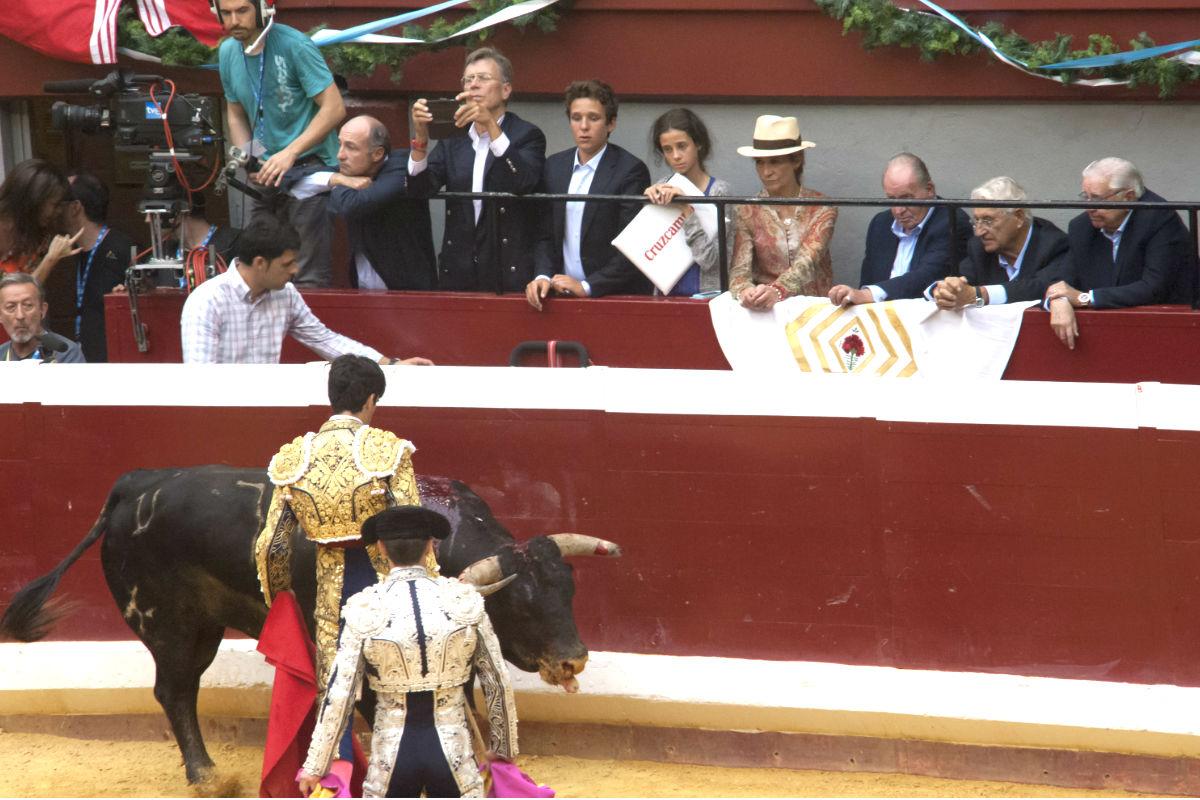 Imagen de una corrida presenciada por el Rey Juan Carlos (Foto: Getty)