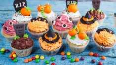 Receta de Terroríficos cupcakes de Halloween sin gluten