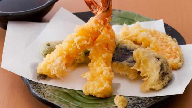 tempura de verduras y gambas