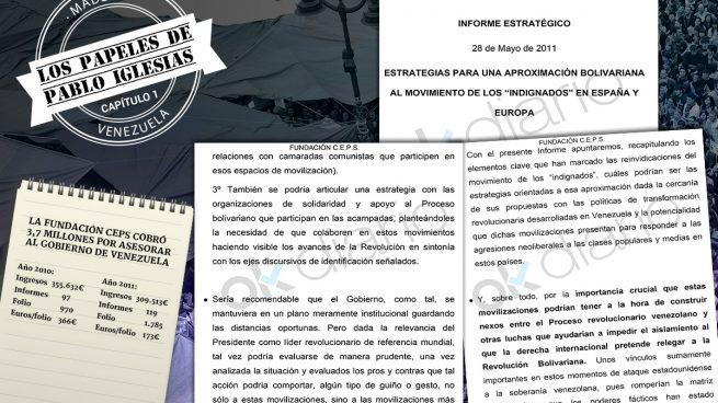 Hugo Chávez compró a la Fundación de Iglesias un plan para apropiarse del 15M y derribar la Monarquía