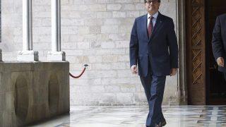 El presidente Artur Mas, en el palacio de la Generalitat (Foto: Efe)