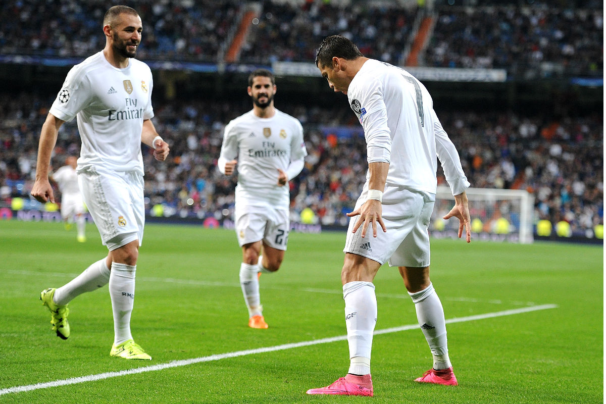 Cristiano Ronaldo celebra un gol en esta edición de la Champions.