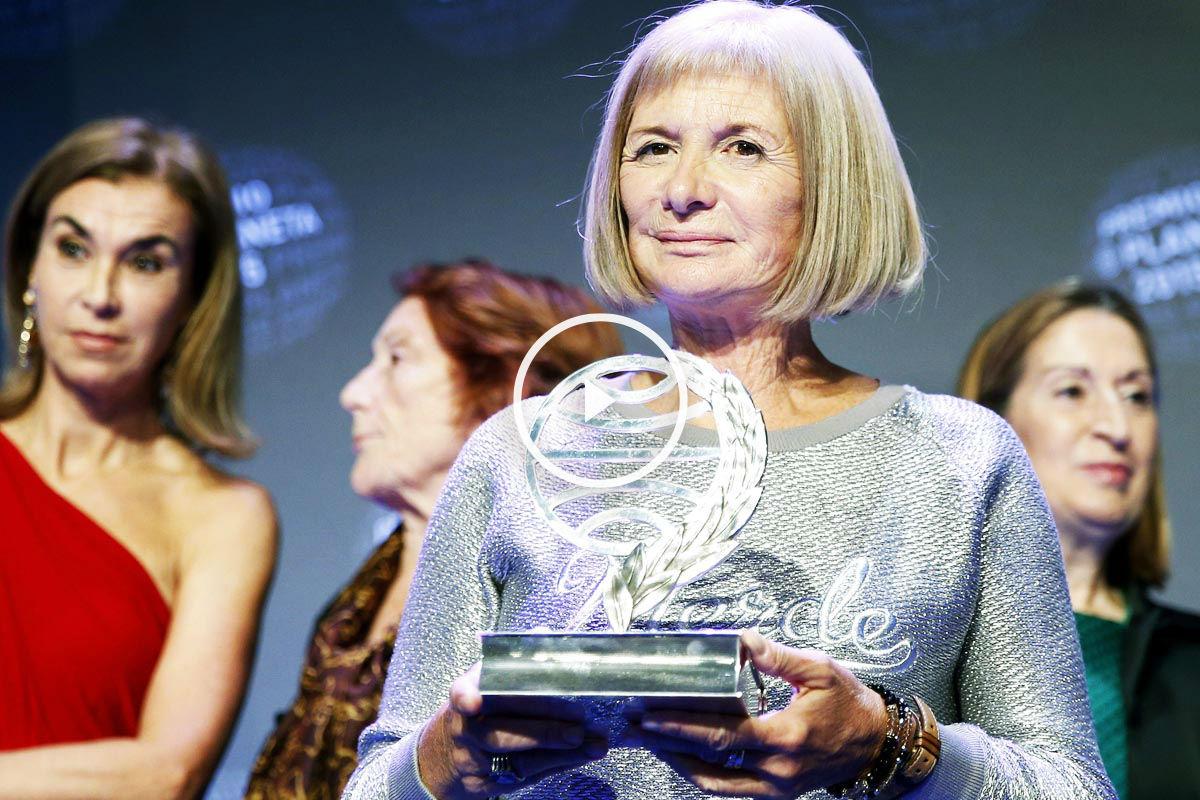 Alicia Giménez-Bartlett recogió su Premio Planeta (Foto: EFE)