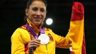 Brigitte Yagüe con la medalla de plata conseguida en Londres 2012 (Getty)