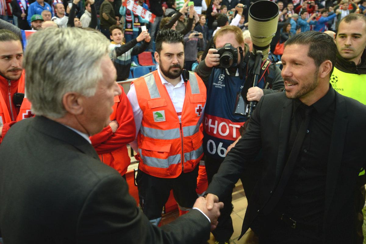 Simeone vivió una gran rivalidad con Ancelotti. (AFP)