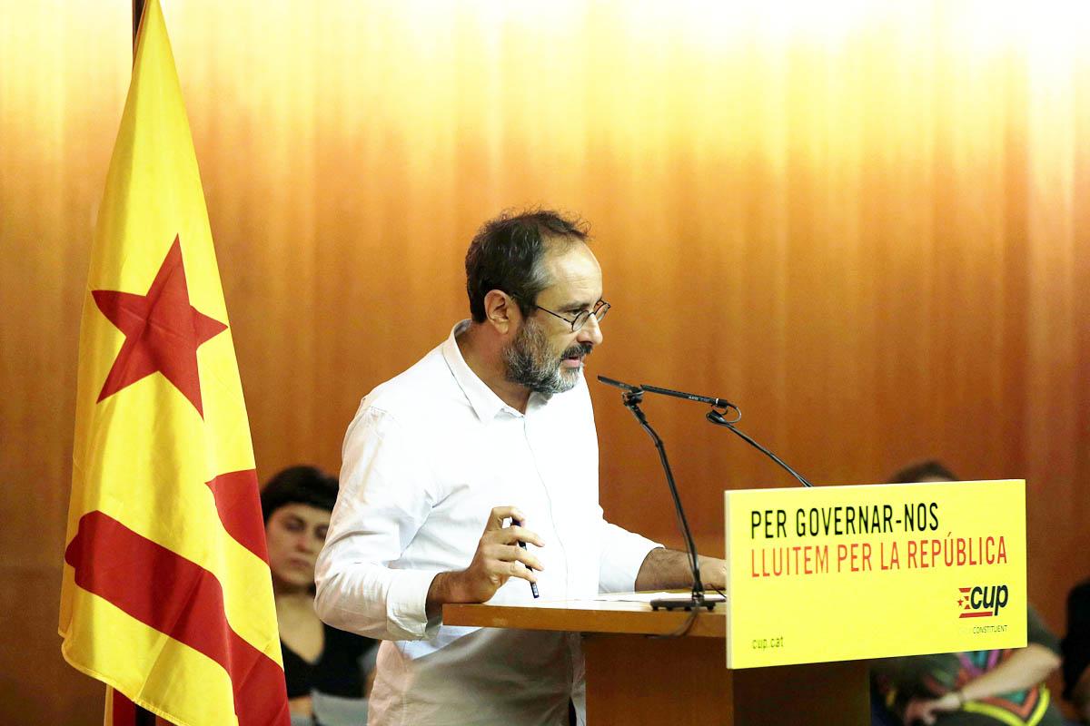 Antonio Baños en un acto de la CUP. (Foto: Efe)