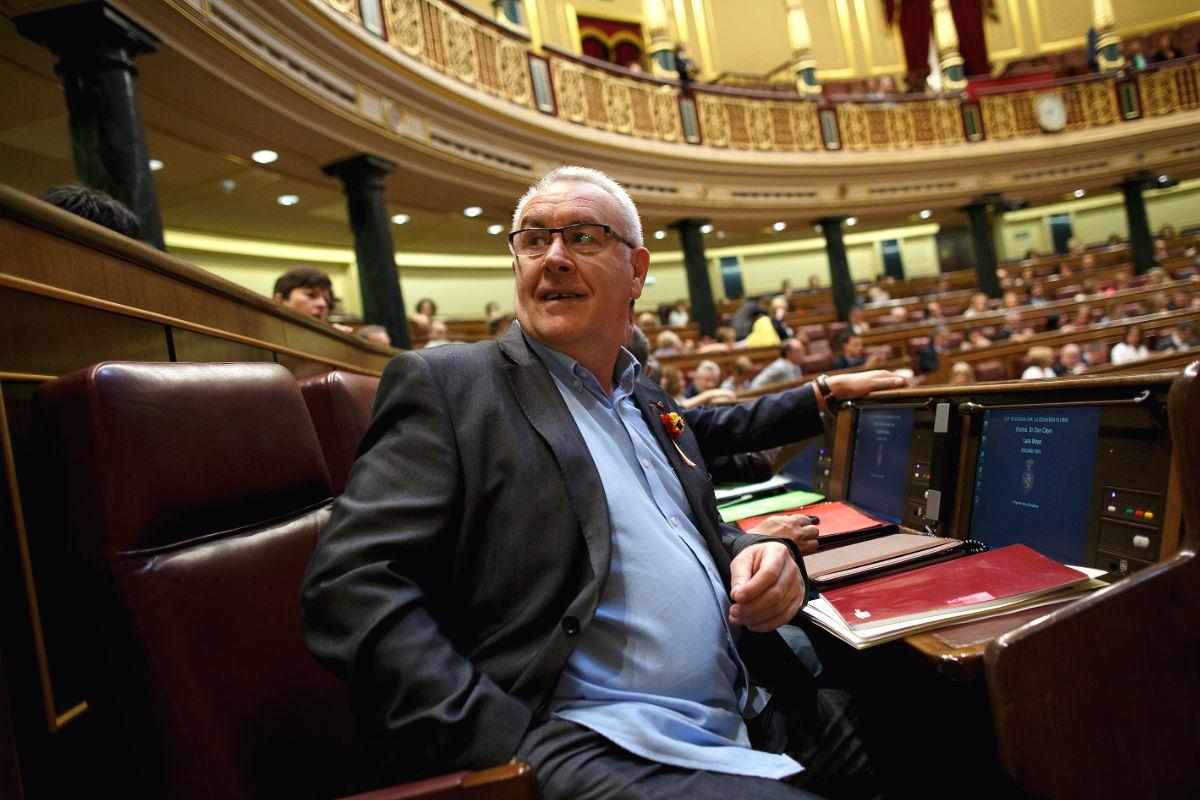 Cayo Lara en el Congreso de los Diputados. (Foto: Getty)