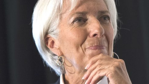 La presidenta del FMI, Christine Lagarde, en la presentación del informe de proyecciones de octubre. (Foto: AFP)
