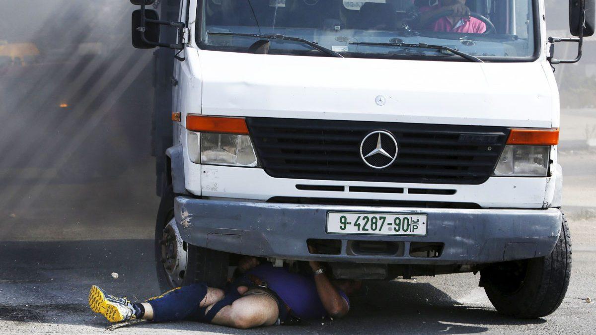Así atropelló un camión a un colono judío en Hebrón