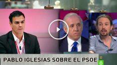 Entrevista a Pablo Iglesias en La Sexta noche.