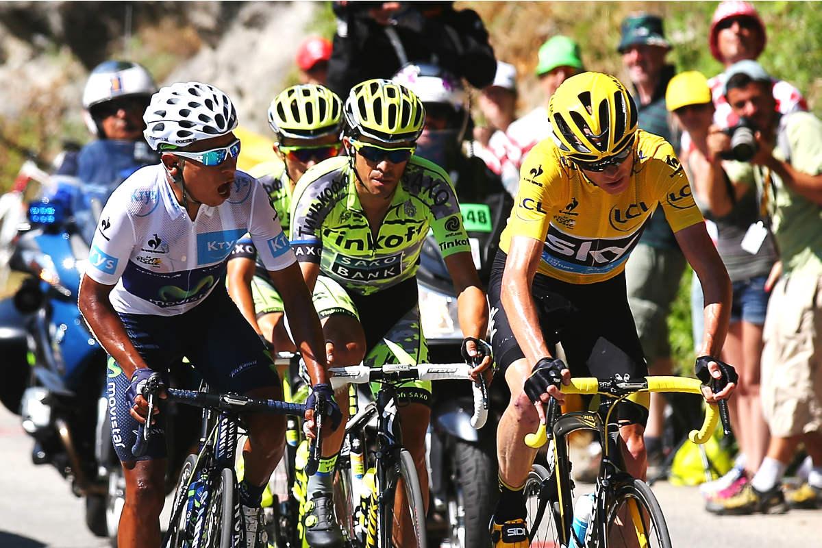 Contador, Froome y Quintana durante la pasada edición del Tour de Francia. (Getty)