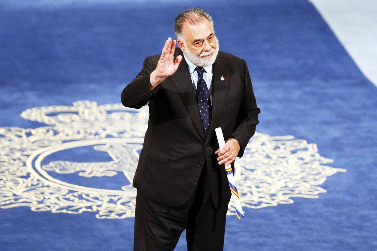 Francis Ford Coppola recogiendo un premio (Foto: Efe).