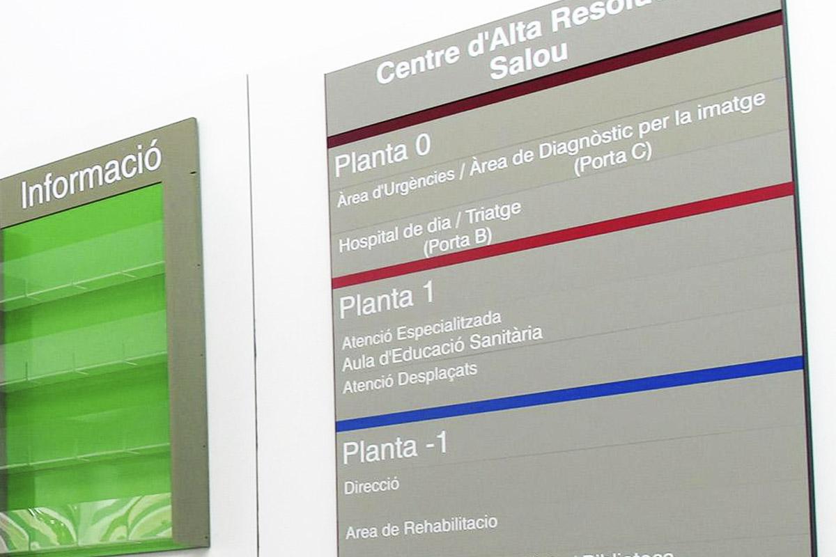 En este cartel se observa la sala específica para 'desplazados' (Foto: Jaume Sellart)