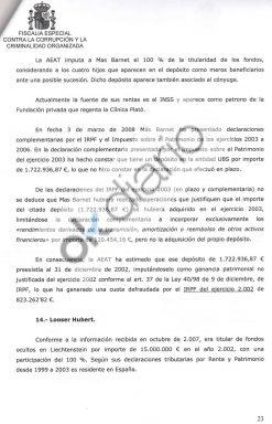 Esta es la prueba de que Artur Mas era beneficiario de una cuenta en Liechtenstein