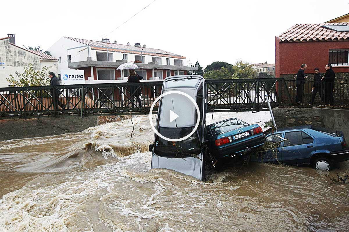 Las lluvias han anegado gran parte de la riviera francesa (Foto: AFP)