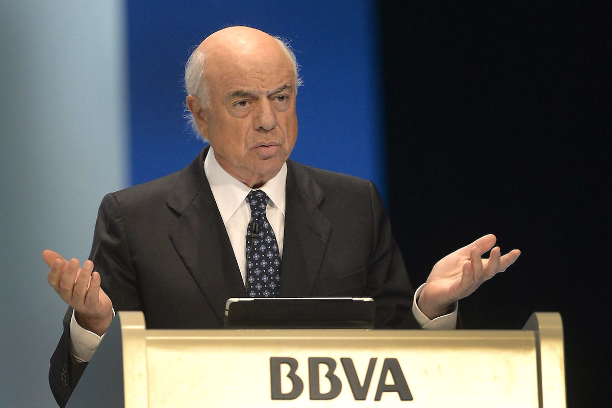 El presidente de honor de BBVA, Francisco González. (Foto: EFE)
