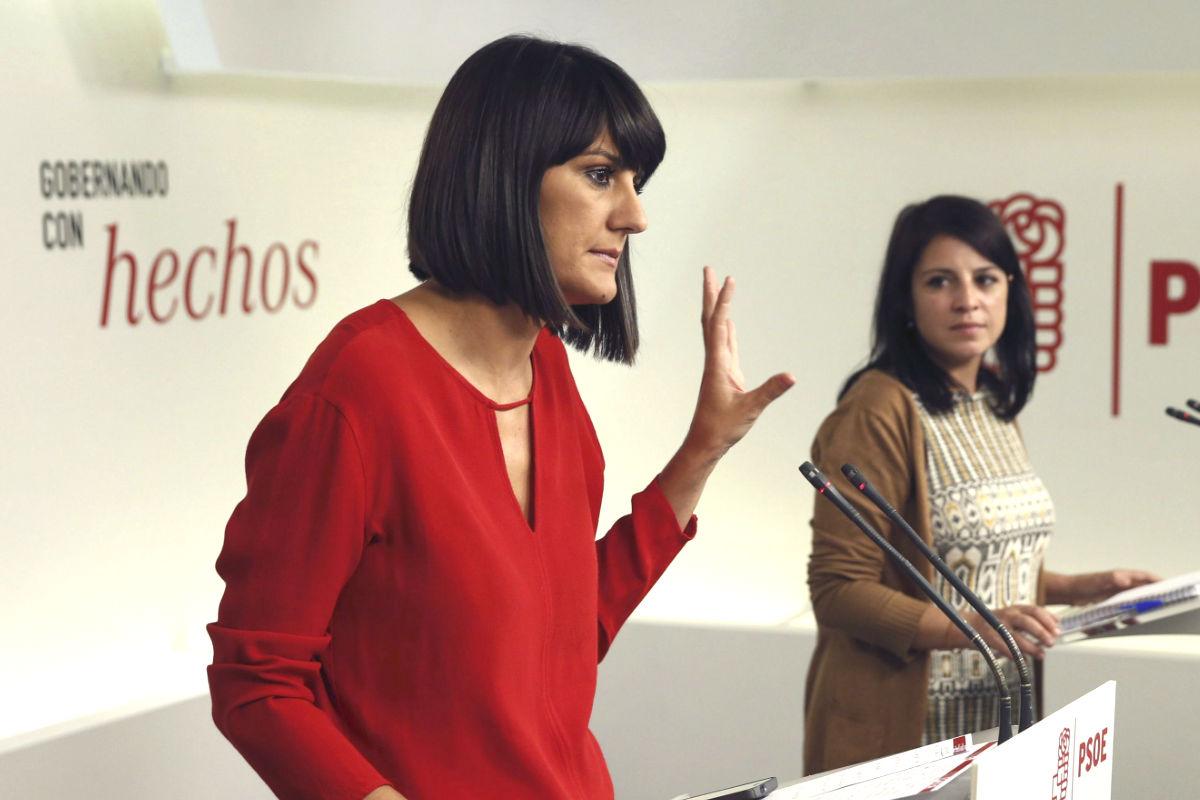 María González Veracruz y Adriana Lastra presentan la campaña: Gobernando con hechos. (Fotos: EFE)
