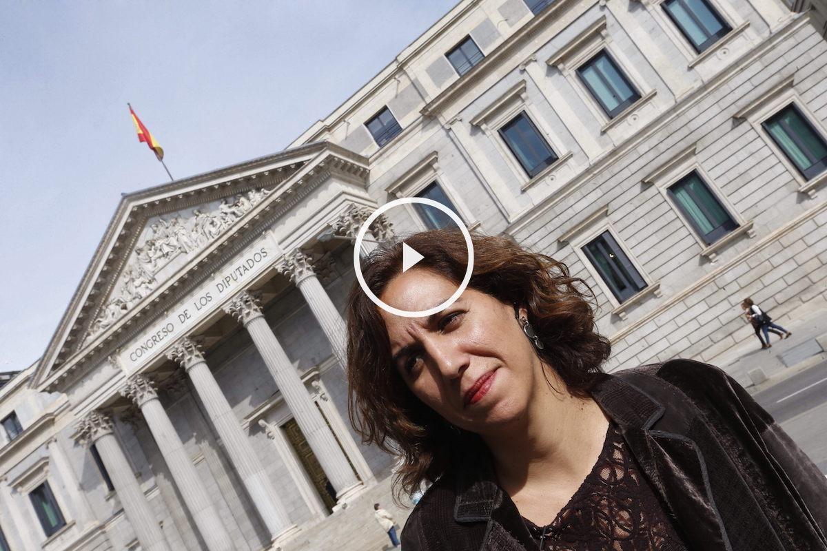 Irene Lozano ante el Congreso de los Diputados. (Foto: EFE)