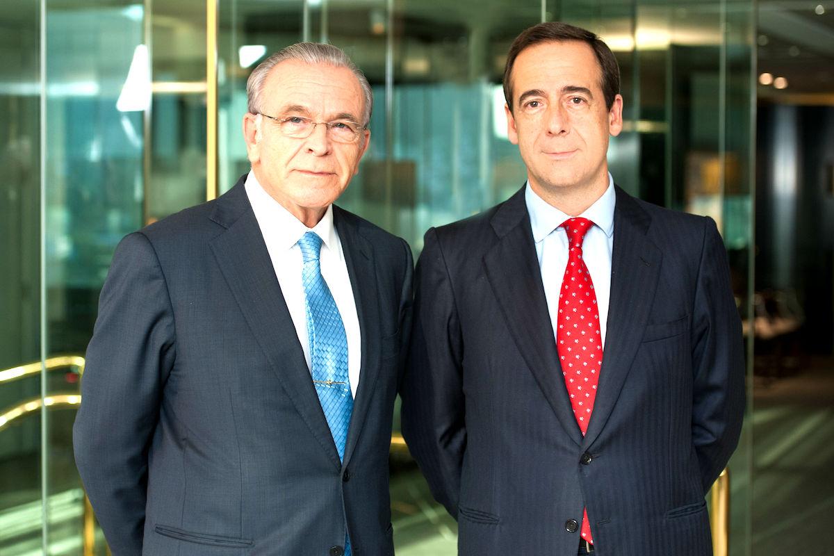El presidente de Caixabank, Isidre Fainé, y el consejero delegado, Gonzalo Gortázar.