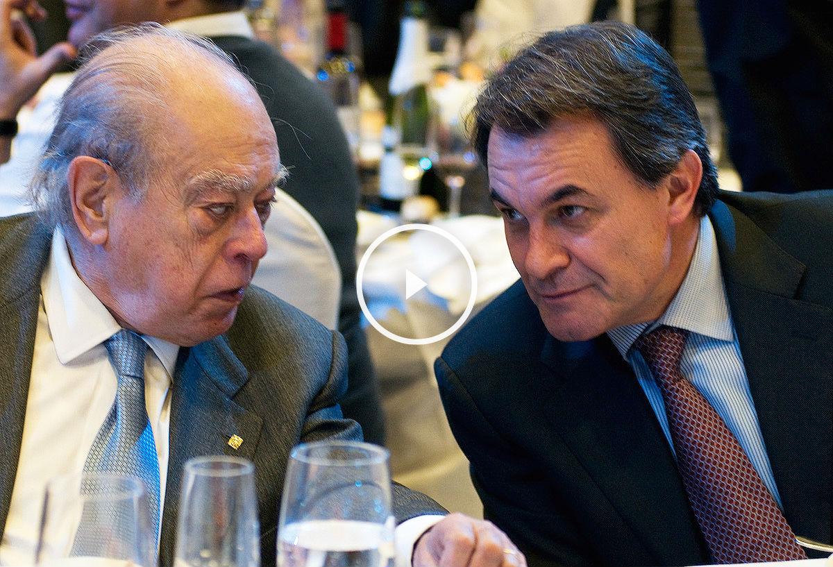 El ex president Jordi Pujol junto al presidente en funciones de la Generalitat, Artur Mas, en un acto celebrado en 2010 (Foto: Getty)