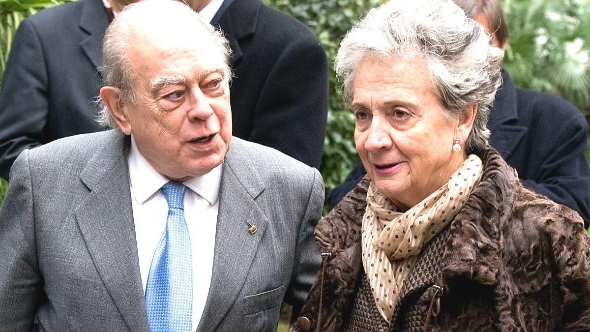 El ex presidente Jordi Pujol, junto a su esposa, Marta Ferrusola (Foto: Getty)