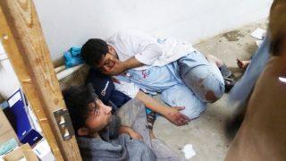 Trabajadores del hospital alcanzados por el ataque (Foto: Getty)