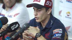 Marc Márquez explica su golpe en Malasia con Rossi.