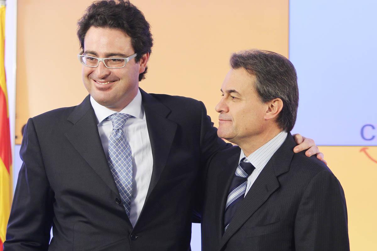 David Madí y Artur Mas juntos en una foto de archivo. (Foto: Wikimedia)