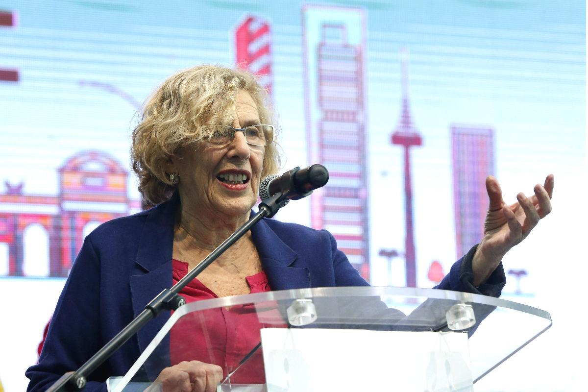 Manuela Carmena durante una conferencia. (Foto: EFE)