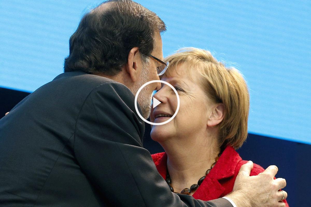 Mariano Rajoy agradece el apoyo a Angela Merkel. (Foto: EFE)