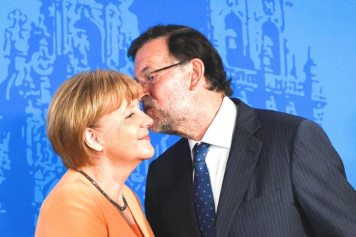 Angela Merkel y Mariano Rajoy. (Foto: Getty)
