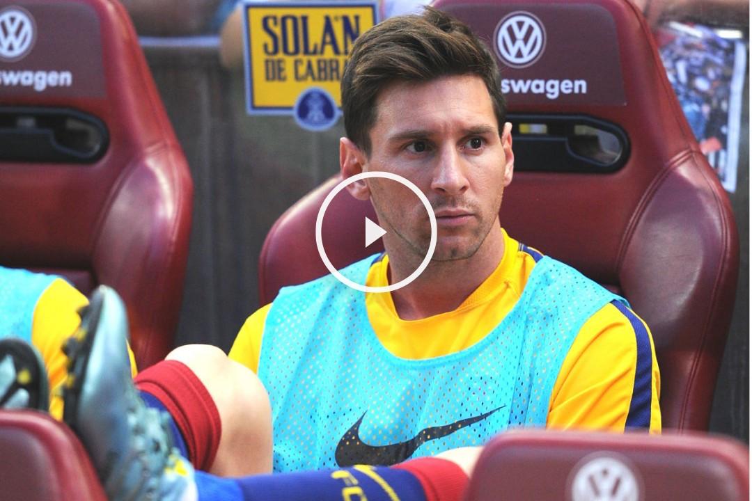 Messi en el banquillo (Foto: Getty)