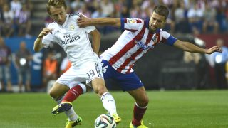 Modric durante un derbi ante el Atlético (Getty)