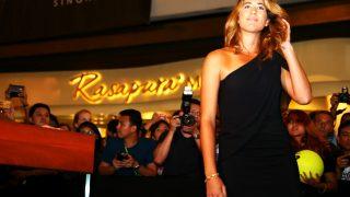 Garbiñe, en su llegada a la gala de presentación del Torneo (Getty)