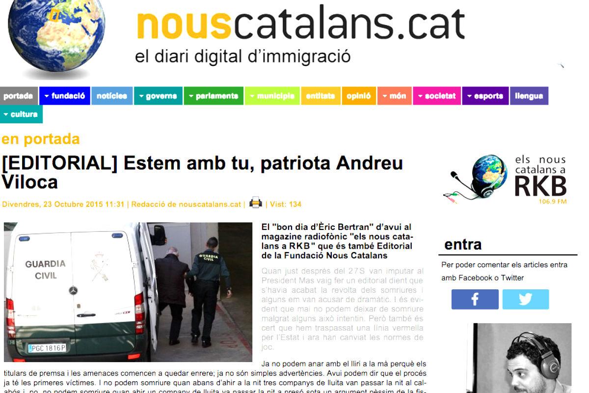 Imagen de la página web de la fundación Nous Catalans
