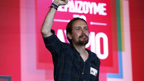 Pablo Iglesias en un mitin apoyando a Tsipras (Foto: Getty)