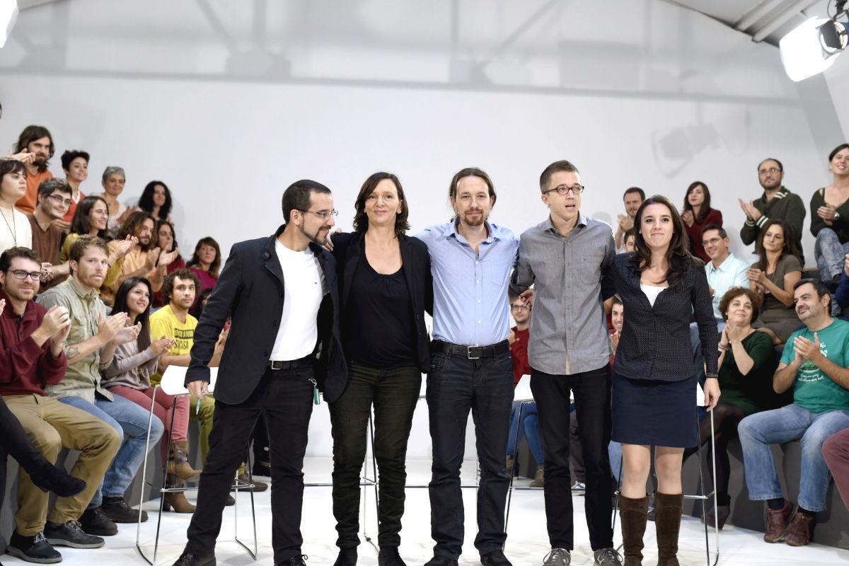 Los principales dirigentes de Podemos. (Foto: EFE)