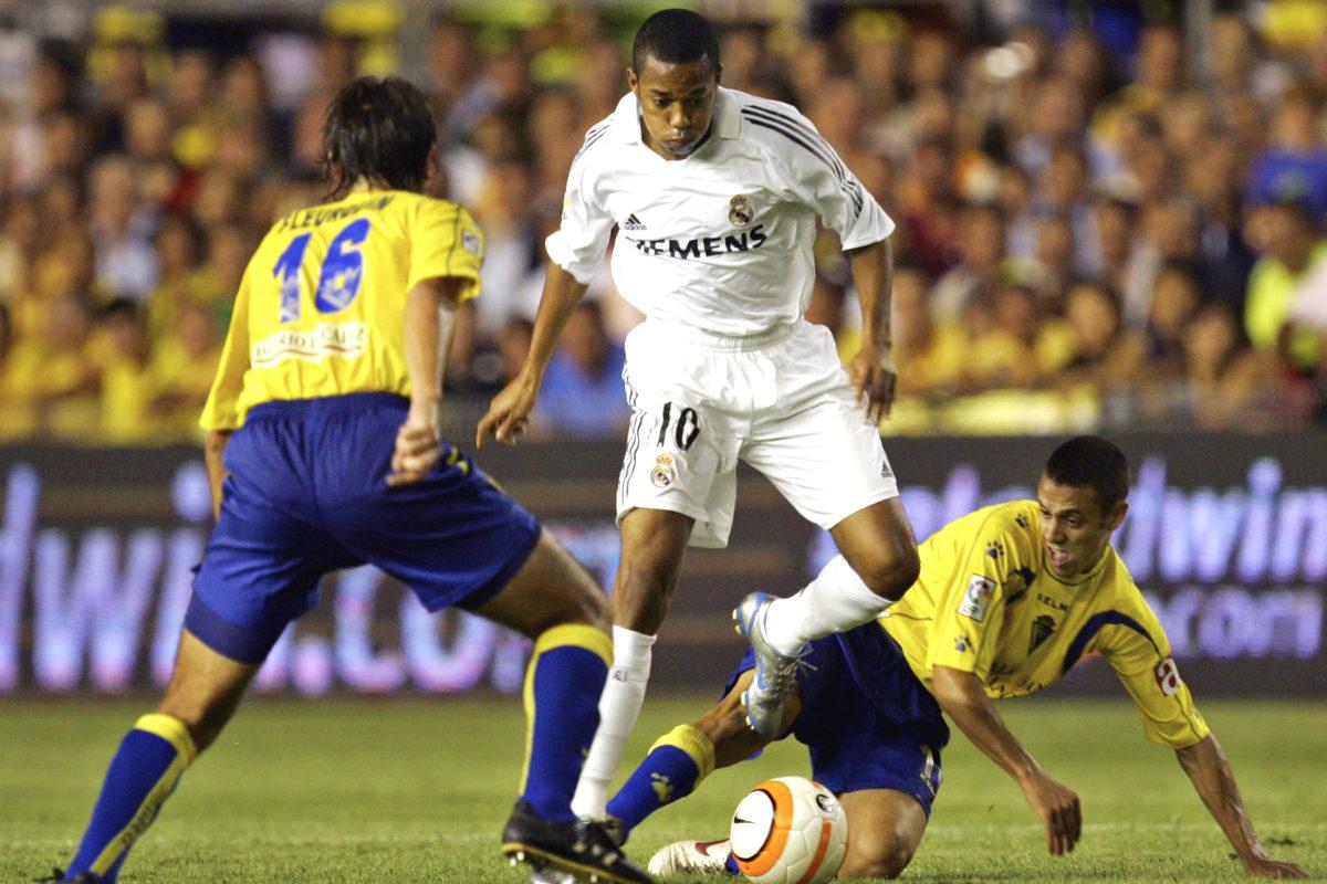 Hace una década Robinho deslumbró en Cádiz con el Real Madrid.