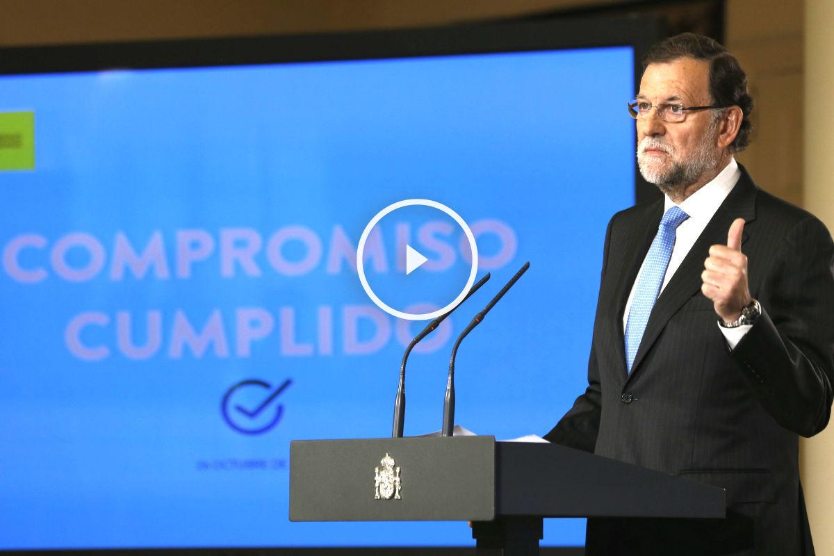 Rajoy haciendo balance de la Legislatura. (Foto: EFE)