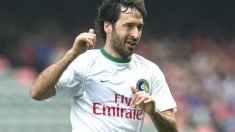 Raul durante un partido con el New York Cosmos (Getty)