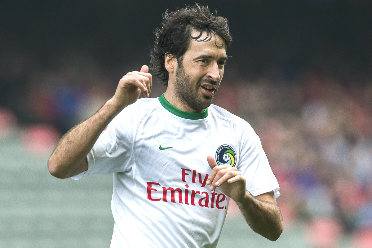 Raul durante un partido con el New York Cosmos (Getty)