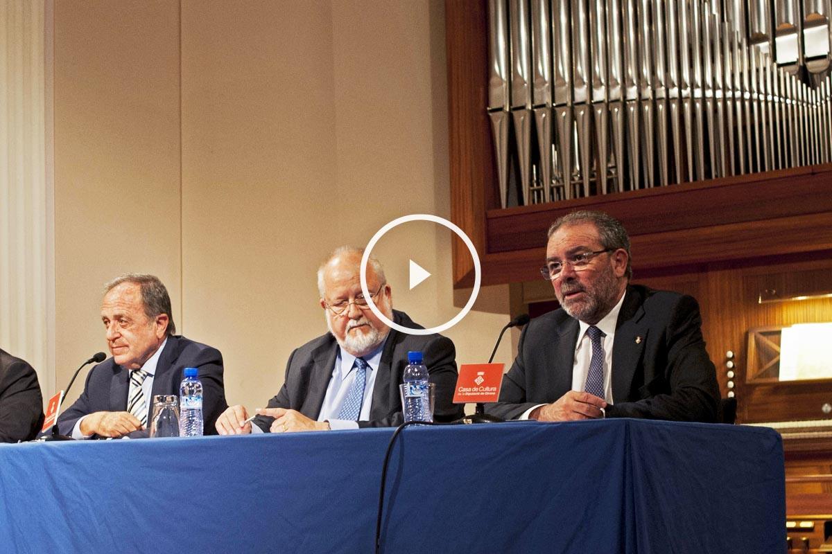 Joan Reñé i Huguet (a la derecha) junto a los presidentes de las Diputaciones de Gerona, Barcelona y Tarragona (Foto: Efe)
