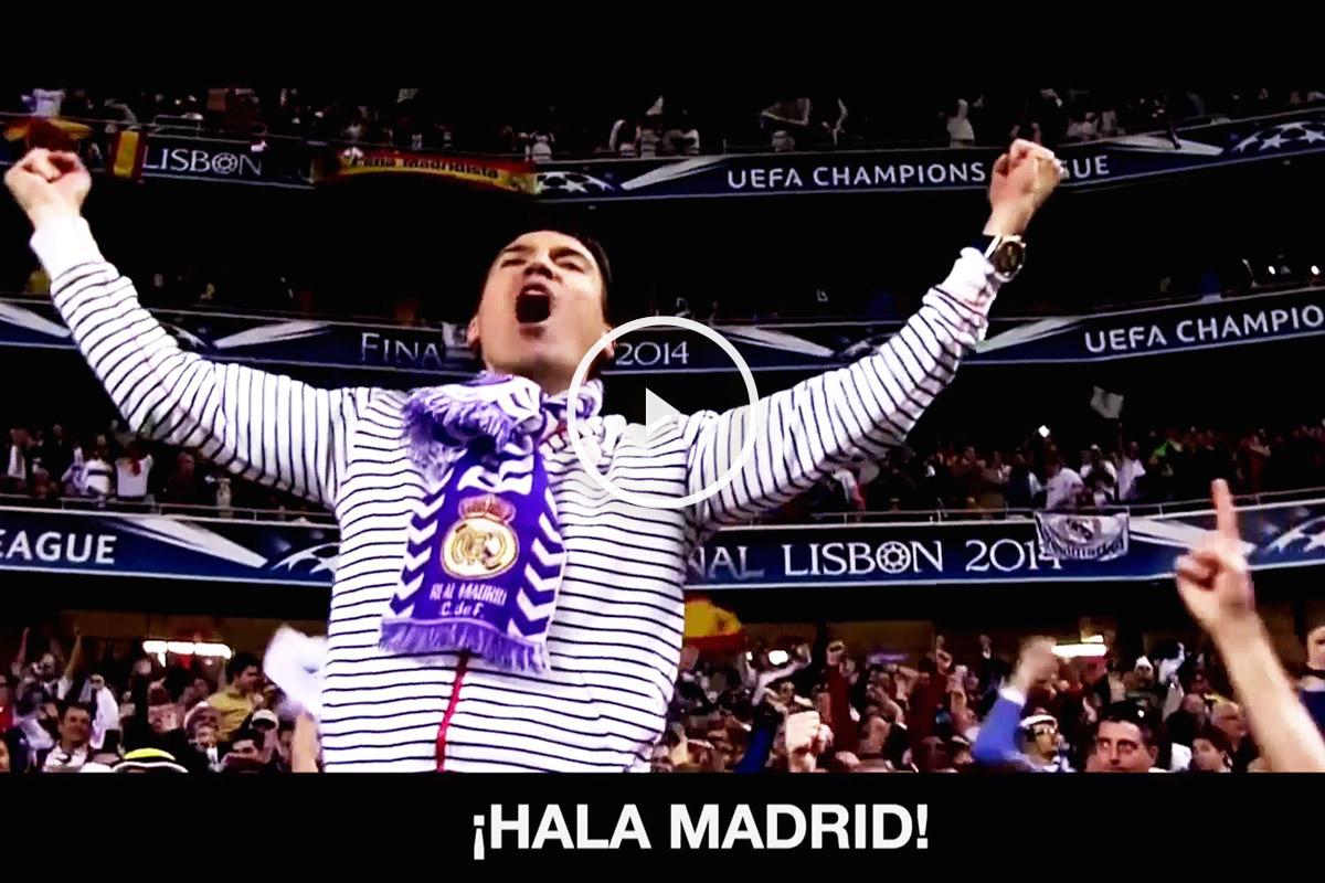 Imagen del vídeo del Real Madrid