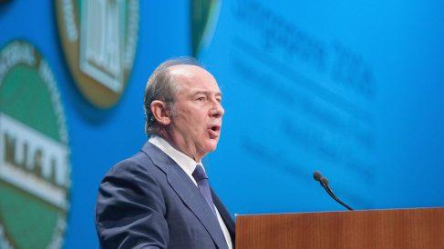 Rodrigo Rato en una intervención en la reunión anual del Banco Mundial. (Foto: Getty)