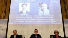 Momento del anuncio de los galardonados con el premio Nobel de Física. (Foto: AFP)