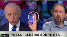 Eduardo Inda y Pablo Iglesias en La Sexta Noche