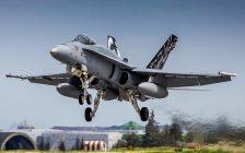 Un F-18 de las fuerza aéreas