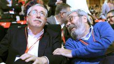Ignacio Fernández Toxo y Cándido Méndez (Foto: EFE)