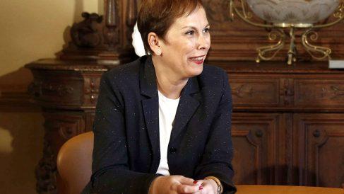 La presidenta del Gobierno foral de Navarra, Uxue Barcos.
